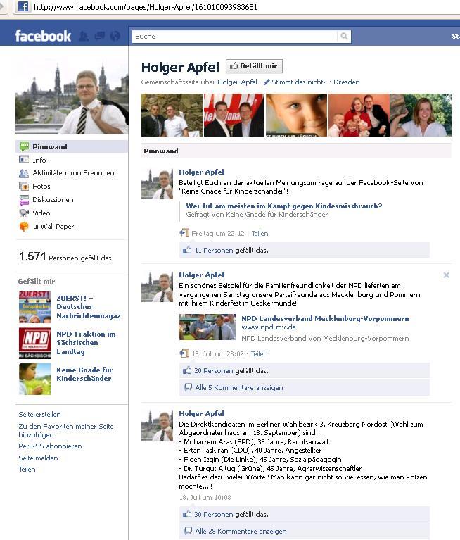 Dem Veranstalter der Kampagne gegen Kindesmissbrauch gefällt Holger Apfel