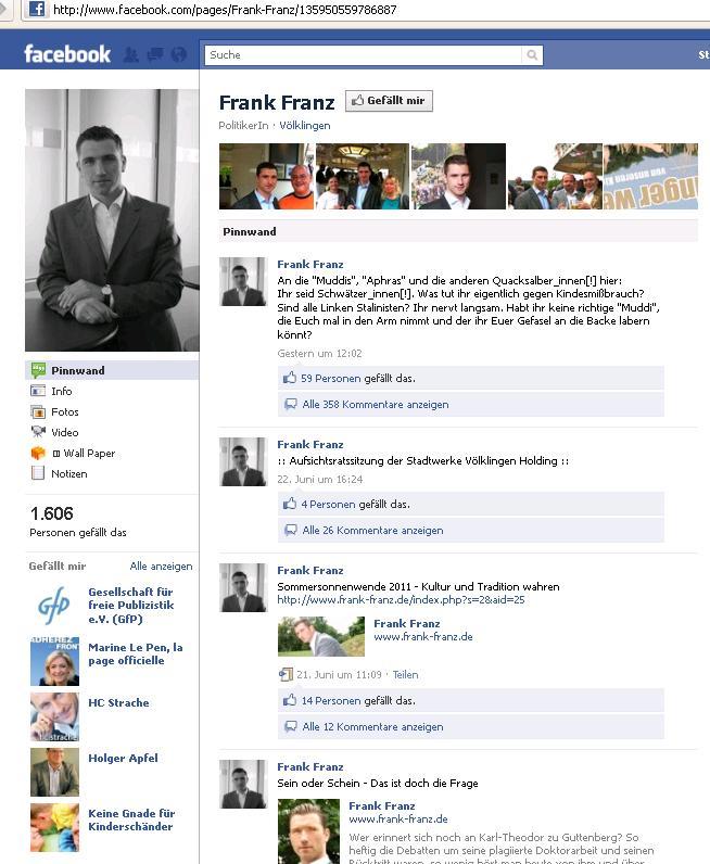 Dem Veranstalter der Kampagne gegen Kindesmissbrauch gefällt Frank Franz