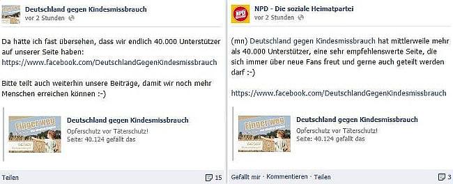 Deutschland gegen Kindesmissbrauch und NPD - immer nur Zufall...