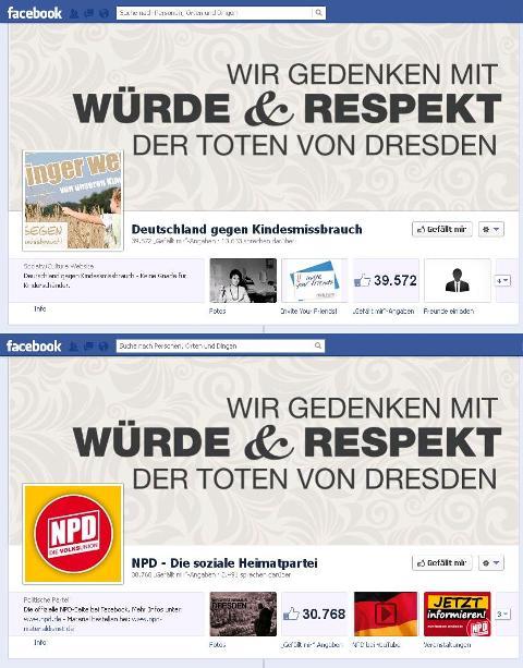 Wer findet die Unterschiede zwischen NPD - Die soziale Heimatpartei und Deutschland gegen Kindesmissbrauch?