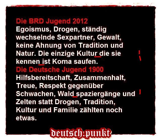 Deutsche Jugend und Deutsche Tugend mit Fehlern